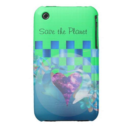 Ahorre el planeta Case-Mate iPhone 3 cárcasas