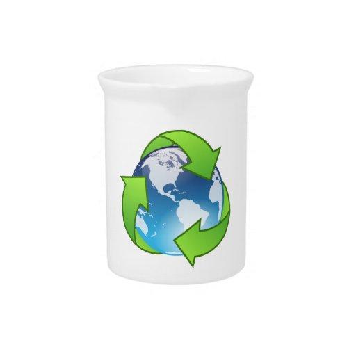 Ahorre el planeta jarra para bebida