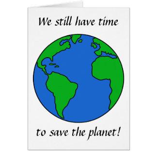 Ahorre el planeta tarjeta de felicitación