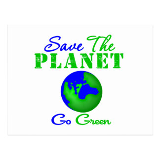 Ahorre el planeta van verde postal