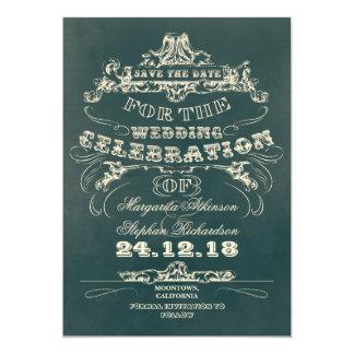 ahorre el plano de la tipografía del vintage de la invitacion personal
