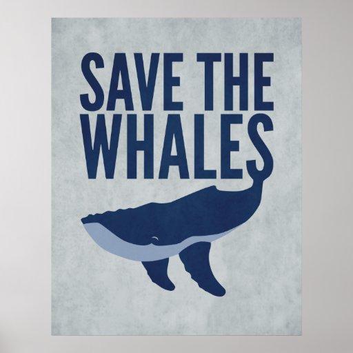 Ahorre el poster de las ballenas