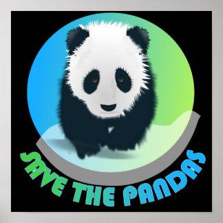 Ahorre el poster de las pandas