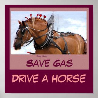 Ahorre el poster del gas