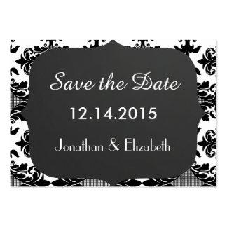 Ahorre el recordatorio del boda de la fecha tarjetas de visita grandes