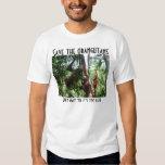Ahorre el rescate de la fauna de los orangutanes playera