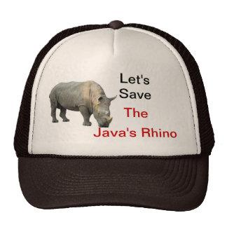 ahorre el rinoceronte gorras