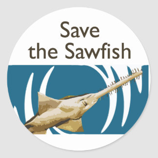 Ahorre el Sawfish Pegatina Redonda