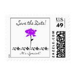 Ahorre el sello de la fecha - color de rosa púrpur