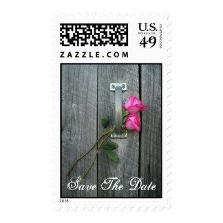 Ahorre el sello de la fecha - puerta y los rosas d