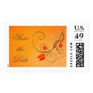 Ahorre el sello de la flor del oro de la fecha