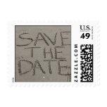 Ahorre el sello de la postal de la fecha escrito e