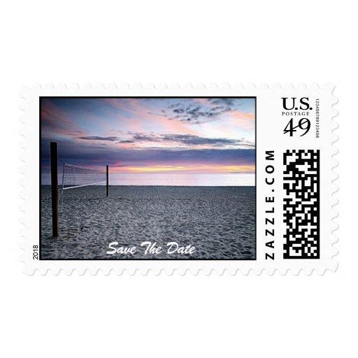 Ahorre el sello de la puesta del sol de la playa d