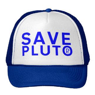 Ahorre el símbolo de Plutón (azul) Gorros