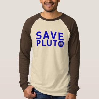Ahorre el símbolo de Plutón (azul) Playera