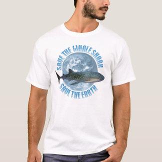 Ahorre el tiburón de ballena playera