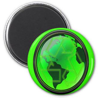 Ahorre el Tierra-Reciclaje-GoGreen Imán Redondo 5 Cm