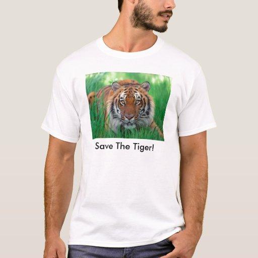 ¡Ahorre el tigre! Playera