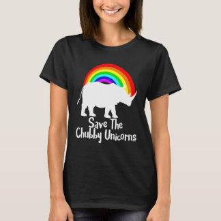 Ahorre el unicornio rechoncho playera