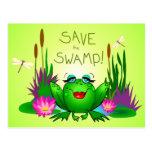 Ahorre el verde de la rana de Femme Fatale del pan Postal