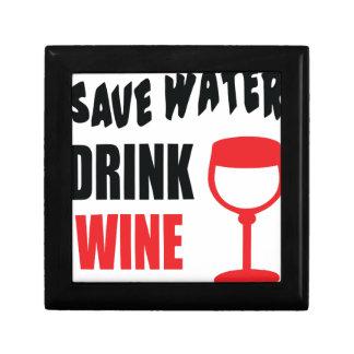 Ahorre el vino de la bebida del agua cajas de recuerdo
