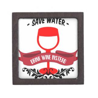 Ahorre el vino de la bebida del agua caja de joyas de calidad