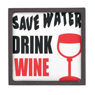 Ahorre el vino de la bebida del agua caja de regalo de calidad