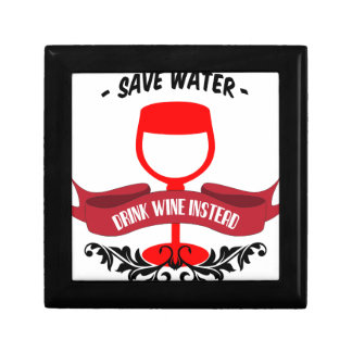 Ahorre el vino de la bebida del agua caja de recuerdo