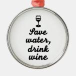 Ahorre el vino de la bebida del agua ornamentos de reyes magos