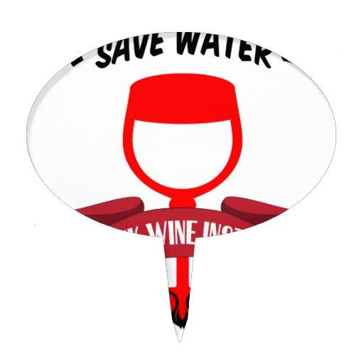 Ahorre el vino de la bebida del agua palillos de tarta