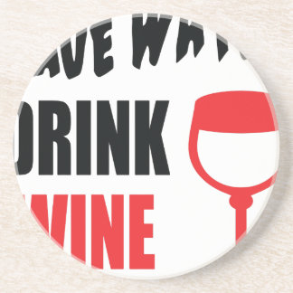Ahorre el vino de la bebida del agua posavasos cerveza