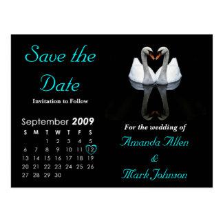 Ahorre en septiembre de 2009 la fecha, casando la postal