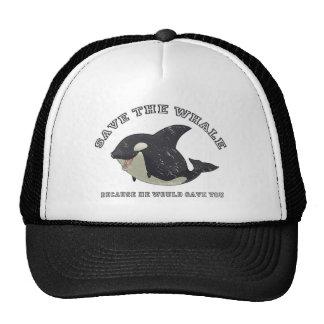"""""""Ahorre gorra de la ballena"""""""
