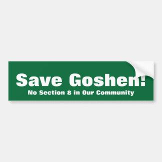 ¡Ahorre Goshen! , Ninguna sección 8 en nuestra com Pegatina Para Auto
