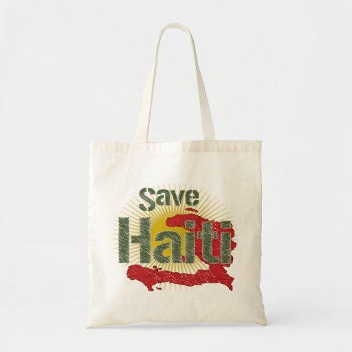 Ahorre Haití (verde) - ingresos van a la CRUZ ROJA Bolsa De Mano