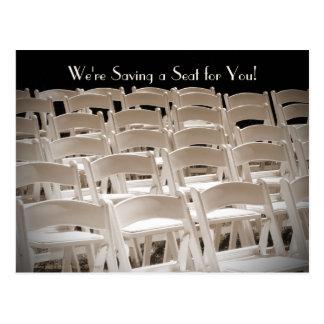 Ahorre la 65.a postal de las sillas de la fiesta