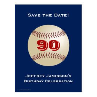 Ahorre la 90.a postal del béisbol del cumpleaños