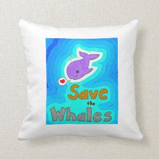Ahorre la almohada de las ballenas