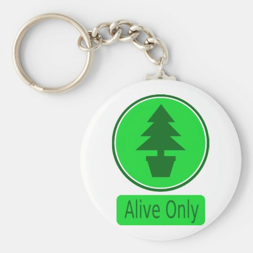 Ahorre la Árbol-Protección y el reciclaje paga Llavero Redondo Tipo Pin