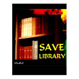 Ahorre la biblioteca 1 tarjetas postales