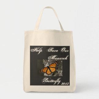 Ahorre la bolsa de asas de la mariposa de monarca