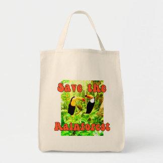 Ahorre la bolsa de asas de la selva tropical