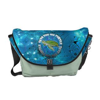 Ahorre la bolsa de mensajero de la tortuga bolsas de mensajeria