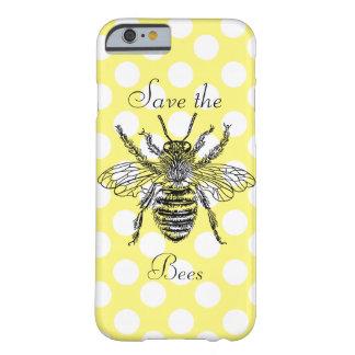Ahorre la caja del teléfono de las abejas funda de iPhone 6 barely there