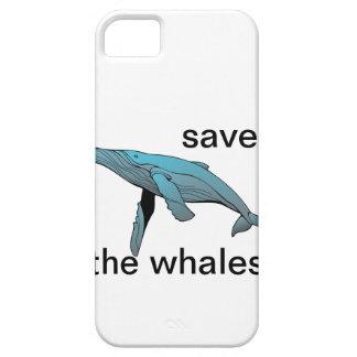 ahorre la caja del teléfono de las ballenas iPhone 5 protector
