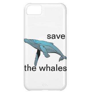 ahorre la caja del teléfono de las ballenas