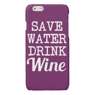 Ahorre la caja divertida del teléfono del vino de