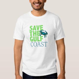 Ahorre la camisa para hombre de la Costa del Golfo