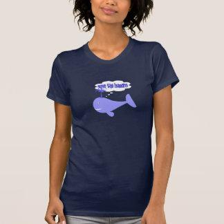 Ahorre la camiseta de la ballena de los seres polera