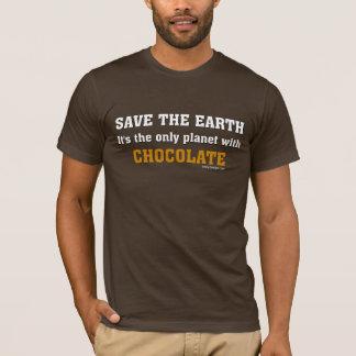 Ahorre la camiseta de la tierra